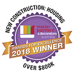2018 Winner - New House Construction: Housing - Master Painters & Decorators Award