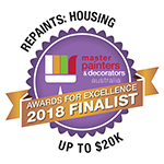 2018 Finalist -Repaint: Housing - Master Painters & Decorators Award up to $20K
