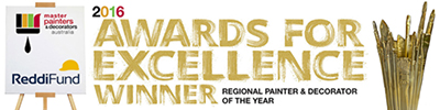 Award for Excellence Regional Painter of the Year Winner