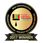 Master Painter & Decorator New Construction Award - Housing Additions Project Value $300 000 - $800 000 Award 2017